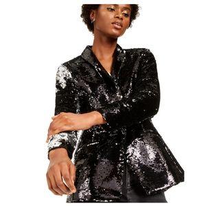 💖INC International Concepts Allover-Sequin Blazer